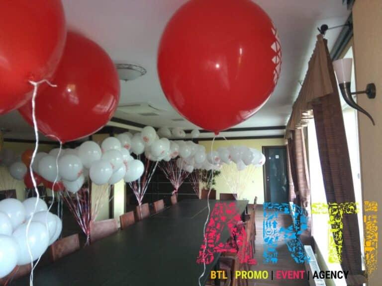 праздничное оформление шарами